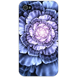 Jugaaduu Abstract Flower Pattern Back Cover Case For Apple iPhone 4 - J11516