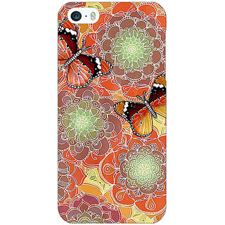 Jugaaduu Butterflies Pattern Back Cover Case For Apple iPhone 5 - J20261