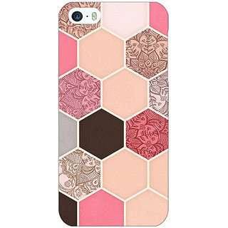 Jugaaduu Pink Hexagons Pattern Back Cover Case For Apple iPhone 5 - J20271