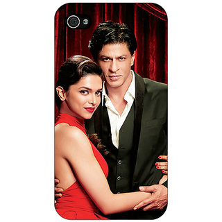 Jugaaduu Bollywood Superstar Deepika Padukone Shahrukh Khan Back Cover Case For Apple iPhone 4 - J11024
