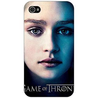 Jugaaduu Game Of Thrones GOT Khaleesi Daenerys Targaryen Back Cover Case For Apple iPhone 4 - J11544