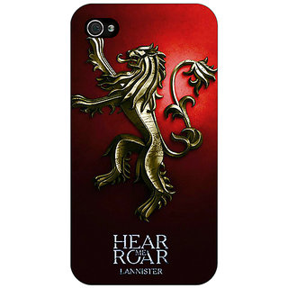 Jugaaduu Game Of Thrones GOT House Lannister Back Cover Case For Apple iPhone 4 - J11553