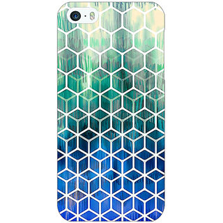Jugaaduu Blue Hexagon Pattern Back Cover Case For Apple iPhone 5 - J20285