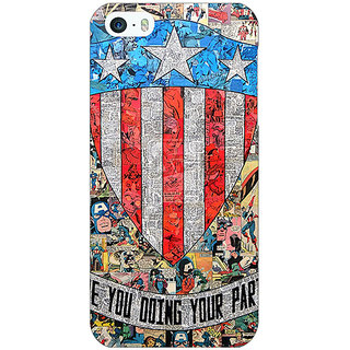 Jugaaduu Superheroes Captain America Back Cover Case For Apple iPhone 5 - J20333