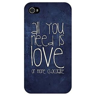 Jugaaduu Love Quote Back Cover Case For Apple iPhone 4 - J11328