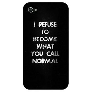 Jugaaduu Quote Back Cover Case For Apple iPhone 4 - J11336