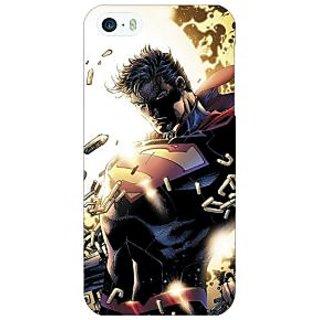 Jugaaduu Superheroes Superman Back Cover Case For Apple iPhone 5 - J20039