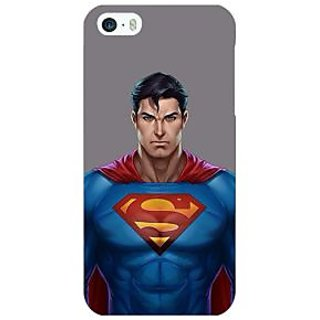 Jugaaduu Superheroes Superman Back Cover Case For Apple iPhone 5 - J20382