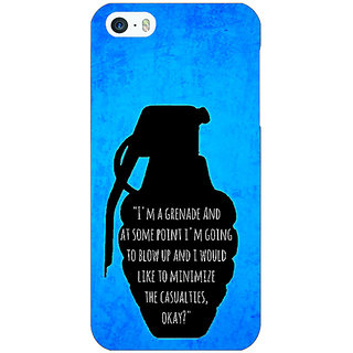 Jugaaduu TFIOS Grenade  Back Cover Case For Apple iPhone 5 - J20106