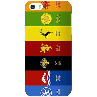 Jugaaduu Game Of Thrones GOT  Back Cover Case For Apple iPhone 5 - J20115