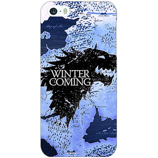 Jugaaduu Game Of Thrones GOT House Stark  Back Cover Case For Apple iPhone 5 - J20122
