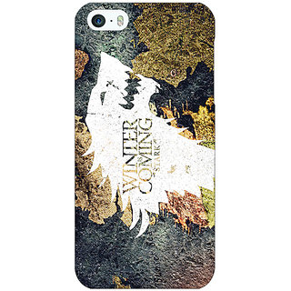 Jugaaduu Game Of Thrones GOT House Stark  Back Cover Case For Apple iPhone 5 - J20124