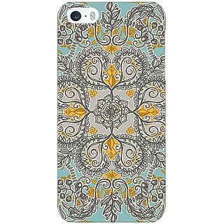Jugaaduu Vintage Floral Pattern Back Cover Case For Apple iPhone 5c - J30262