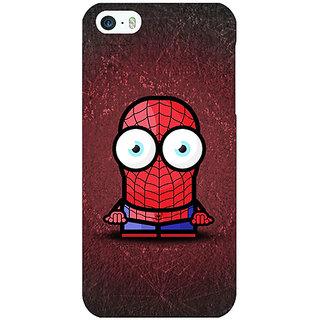 Jugaaduu Big Eyed Superheroes Spiderman Back Cover Case For Apple iPhone 5 - J20398