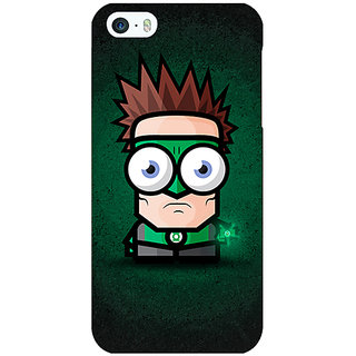 Jugaaduu Big Eyed Superheroes Green Lantern Back Cover Case For Apple iPhone 5 - J20399