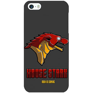 Jugaaduu Game Of Thrones GOT House Stark  Back Cover Case For Apple iPhone 5 - J20126