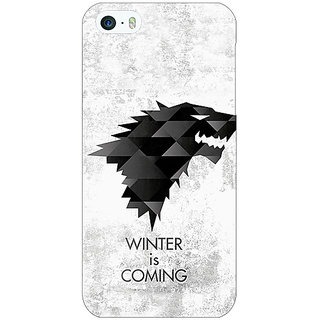 Jugaaduu Game Of Thrones GOT House Stark  Back Cover Case For Apple iPhone 5 - J20130