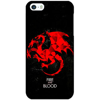 Jugaaduu Game Of Thrones GOT House Targaryen  Back Cover Case For Apple iPhone 5 - J20140