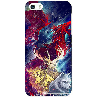 Jugaaduu Game Of Thrones GOT House Targaryen  Back Cover Case For Apple iPhone 5 - J20148
