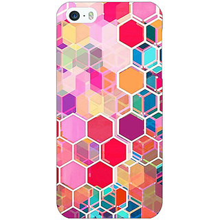 Jugaaduu Red Blue Hexagons Pattern Back Cover Case For Apple iPhone 5c - J30274