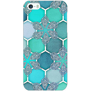 Jugaaduu Floral Hexagons Pattern Back Cover Case For Apple iPhone 5c - J30281