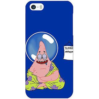 Jugaaduu Spongebob Patrick Back Cover Case For Apple iPhone 5 - J20472