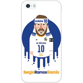 Jugaaduu Real Madrid Sergio Ramos Back Cover Case For Apple iPhone 5c - J30587