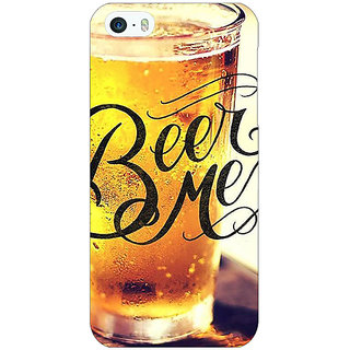 Jugaaduu Beer Quote Back Cover Case For Apple iPhone 5 - J21210