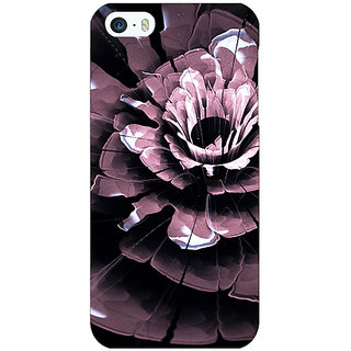 Jugaaduu Abstract Flower Pattern Back Cover Case For Apple iPhone 5 - J21522