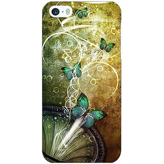 Jugaaduu Abstract Butter Fly Pattern Back Cover Case For Apple iPhone 5 - J21525