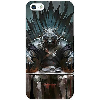 Jugaaduu Game Of Thrones GOT Iron Throne King Of The North Back Cover Case For Apple iPhone 5 - J21533