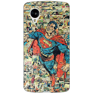 Jugaaduu Superheroes Superman Back Cover Case For Google Nexus 5 - J40038