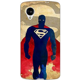 Jugaaduu Superheroes Superman Back Cover Case For Google Nexus 5 - J40040