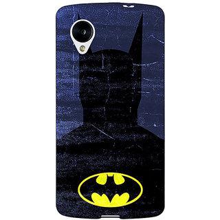 Jugaaduu Superheroes Batman Dark knight Back Cover Case For Google Nexus 5 - J40042