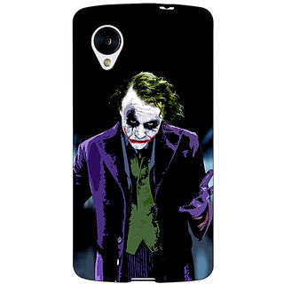 Jugaaduu Villain Joker Back Cover Case For Google Nexus 5 - J40045