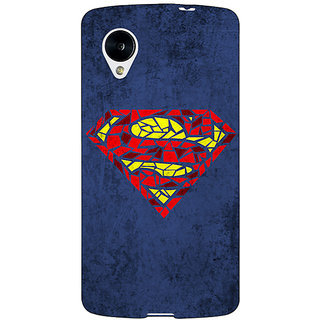 Jugaaduu Superheroes Superman Back Cover Case For Google Nexus 5 - J40381
