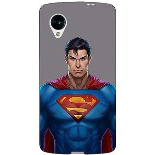 Jugaaduu Superheroes Superman Back Cover Case For Google Nexus 5 - J40382