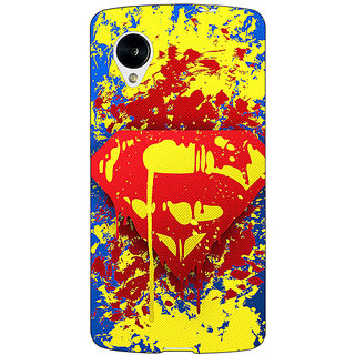 Jugaaduu Superheroes Superman Back Cover Case For Google Nexus 5 - J40392
