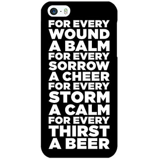Jugaaduu Beer Quote Back Cover Case For Apple iPhone 5c - J31216