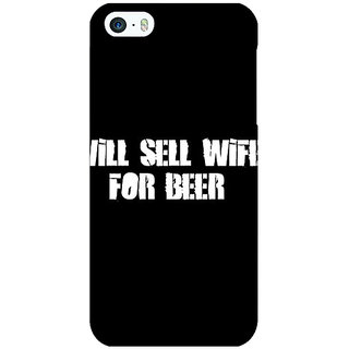 Jugaaduu Beer Quote Back Cover Case For Apple iPhone 5c - J31240