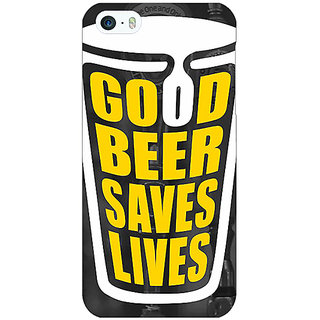 Jugaaduu Beer Quote Back Cover Case For Apple iPhone 5 - J21250