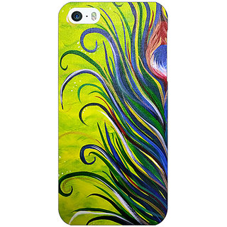 Jugaaduu Paisley Beautiful Peacock Back Cover Case For Apple iPhone 5 - J21590