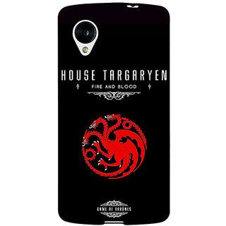 Jugaaduu Game Of Thrones GOT House Targaryen  Back Cover Case For Google Nexus 5 - J40144