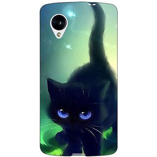 Jugaaduu Cute Black Kitten Back Cover Case For Google Nexus 5 - J41138