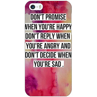Jugaaduu Wise Quote Back Cover Case For Apple iPhone 5c - J31144