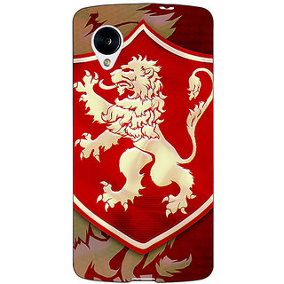 Jugaaduu Game Of Thrones GOT House Lannister  Back Cover Case For Google Nexus 5 - J40161