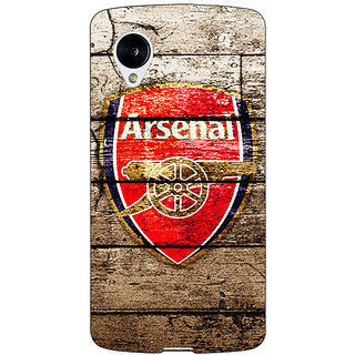 Jugaaduu Arsenal Back Cover Case For Google Nexus 5 - J40507