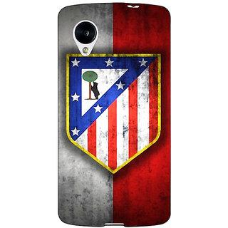 Jugaaduu Athletico Madrid Back Cover Case For Google Nexus 5 - J40521