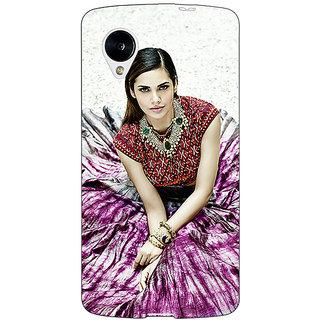 Jugaaduu Bollywood Superstar Esha Gupta Back Cover Case For Google Nexus 5 - J40968