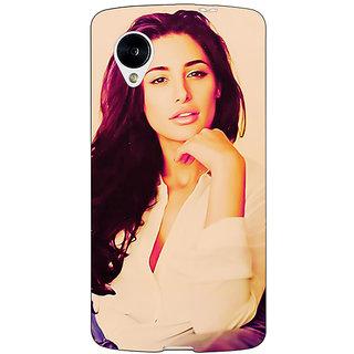 Jugaaduu Bollywood Superstar Nargis Fakhri Back Cover Case For Google Nexus 5 - J40976